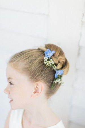 Flower Girl Hairstyle  ~ Keepsake Memories Photography: