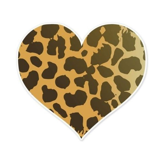"""Ride in Style Cheetah Animal Print Heart Car Bumper Sticker 4"""" X 4"""" ($3.69) ❤ liked on Polyvore"""