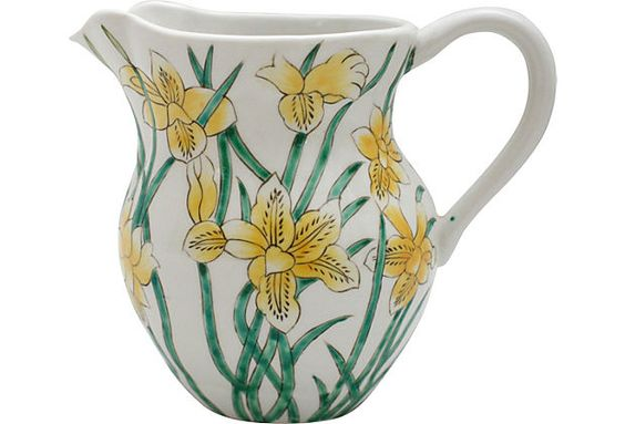Hand-Painted Lily Pitcher on OneKingsLane.com