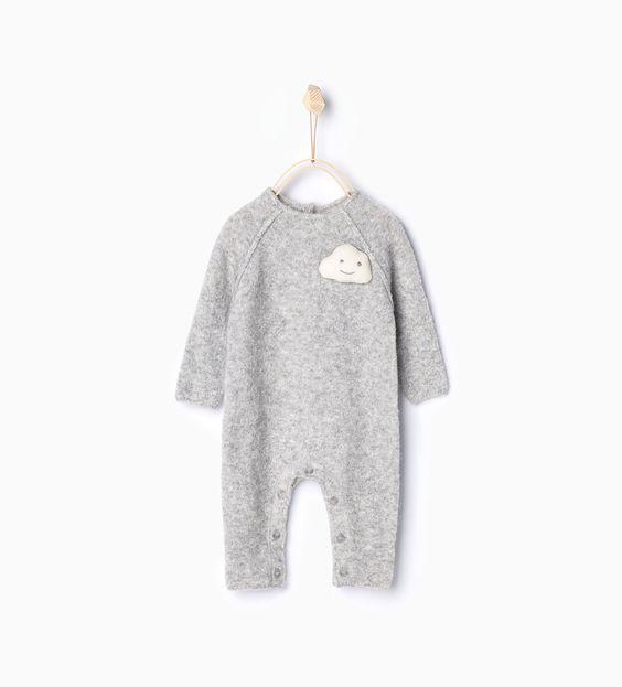 Cloud knit sleepsuit-Outfits & romper suits-Mini | 0-12 months-KIDS | ZARA United Kingdom