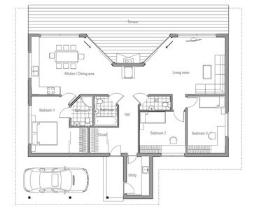 Water heaters half baths and house plans on pinterest for Wrap around desk plans