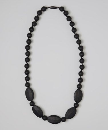 Take a look at this Black Emma Teething Necklace by Droolery by emmi & olive on #zulily today!