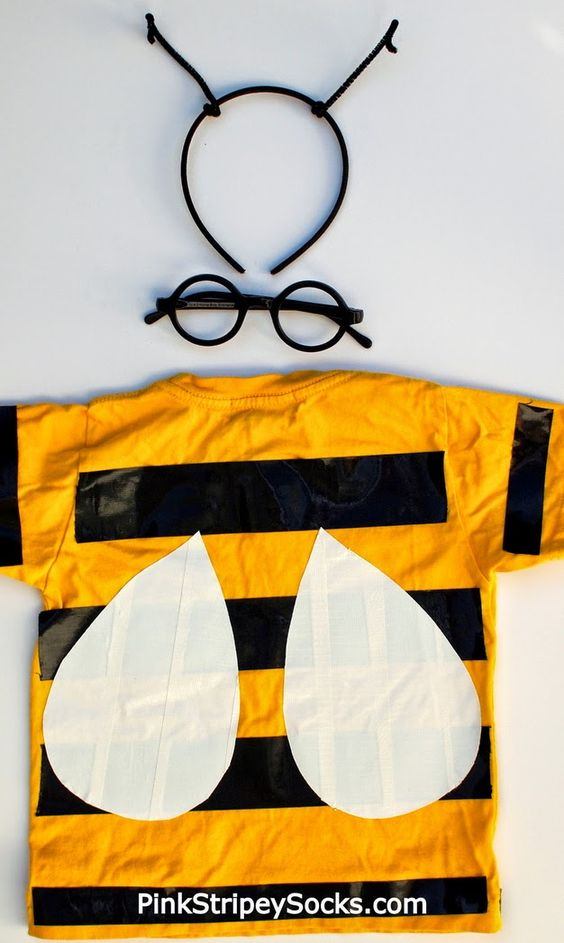 Easy DIY Duct Tape Bee Costume (Back)