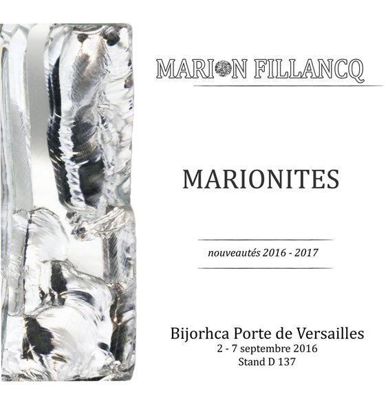 Marion Fillancq -    I NOUVEAUTÉS I La nouvelle collection MARIONITE sera *aussi* présentée au salon Bijorhca du 2 au 5 septembre à Paris! stand D 137 - Espace Design Contemporain: