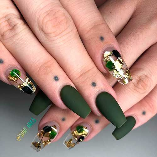 Dark Green Nails Ideas To Consider For 2020 Stylish Belles Dark Green Nails Green Nail Designs Green Nails