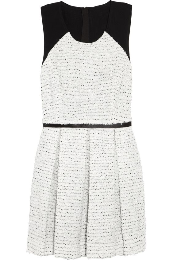Tweed and georgette dress by Markus Lupfer