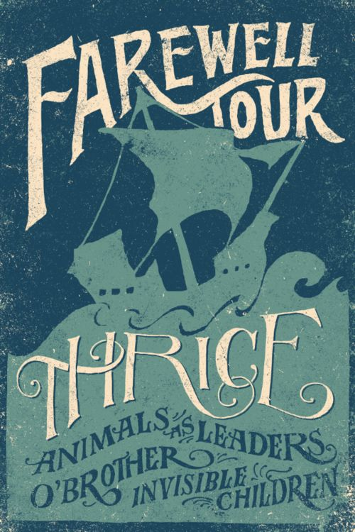 Thrice Farewell Tour Poster By Jon Contino Concert Poster Design Gig Posters Poster Design