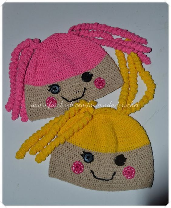 Free Crochet Pattern For Lalaloopsy Hat : Our Family Blogs About....: Lalaloopsy Crochet Hats ...