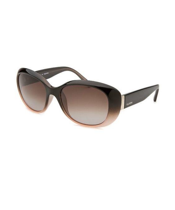 Valentino : Women's Oblong Black & Light Beige Sunglasses : style # 363633101