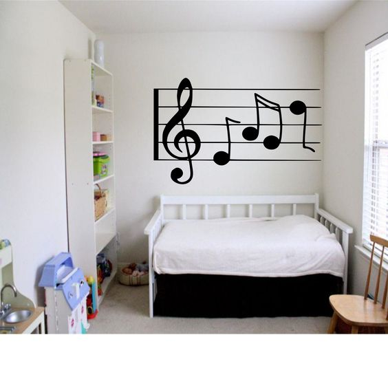 Great wall art for the musician in your family. Also great in the kids room. If you know a music teacher this is a great addition to here classroom when she goes back to school.  https://www.etsy.com/listing/197638184/music-notes-wall-decal?