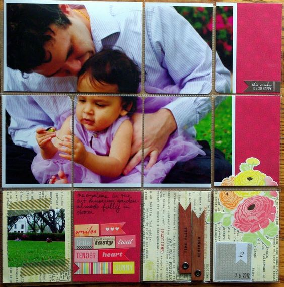 Love the big photo + cardstock