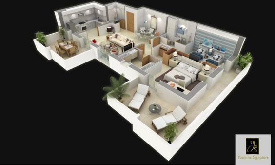 S+2c : 89 m²  Cet appartement, situé du RDC (avec jardin privatif) au 4ème étage (avec solarium) des pavillons jumelés, offre une cuisine modulable. L'espace de réception se divise en une salle à manger et un séjour de réception. Une suite parentale avec dressing et  salle de bains. La suite enfant, intègre de grands rangement et une salle de bains optimisée. Un vestiaire invité offre davantage de confort au quotidien. Deux larges balcons, permettent de vivre à l'intérieur et à l'extérieur .