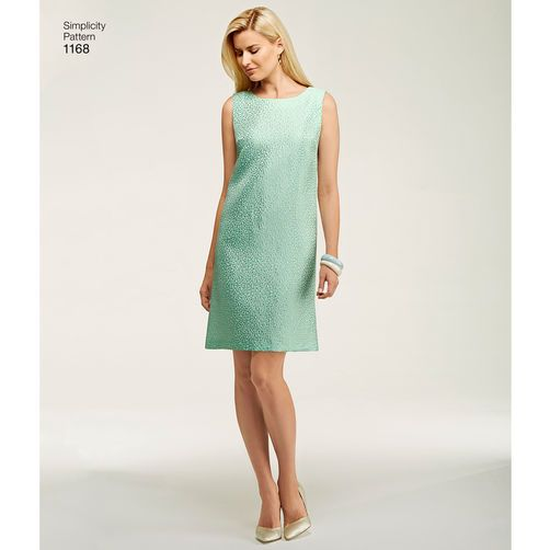 Simplicity Pattern 1168 Misses' Dresses and Coat or Jacket: