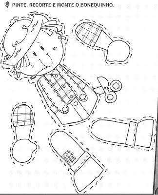 Mais algumas atividades Juninas - Mundinho da Criança - Atividades para Educação Infantil