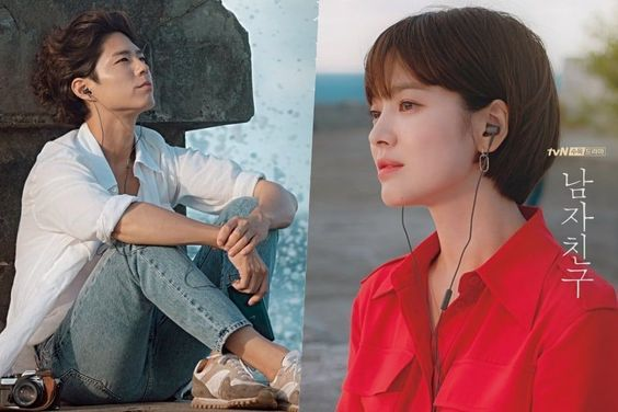"""Park Bo Gum And Song Hye Kyo Are A Reminiscent Couple In New """"Encounter"""" Posters"""
