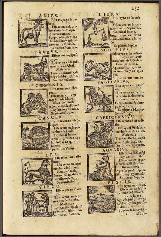 Calvo, Fernando.Libro deAlbeytería. Zodiaco