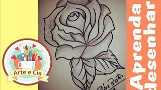 Desenhando rosas para pinturas sem dificuldade | Cantinho do Video