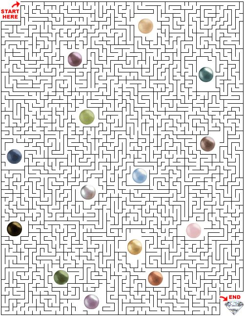 Printable Maze Puzzles for Adults   Maze Puzzle! Free Maze Puzzle! Jewelry Maze! Jewelry Related Maze ...