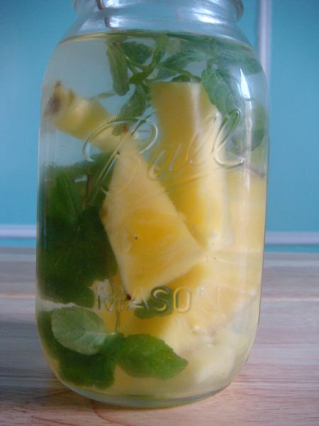 Pineapple-Mint Ginger Water