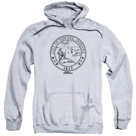 Parks &Amp; Rec/Pawnee Seal Adult Pull-Over Hoodie in Athletic Heather