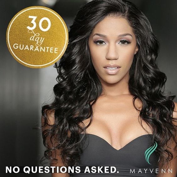 ALL Mayvenn products have a 30 day quality guarantee. If you or your clients aren't satisfied with the quality of the hair, no problem! Mayvenn will refund or exchange the products with no questions...