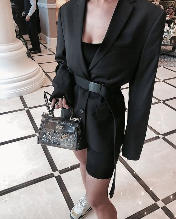 Achive that sexy yet classy outfit with black blazer. Ideal for street style, casual days outfit and winter party look. Get that effortlessly chic style and order this black dressy & classy blazer now! #winter #streetstyleoutfits #blazer