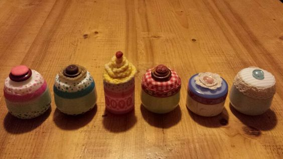 Upcycled cream containers
