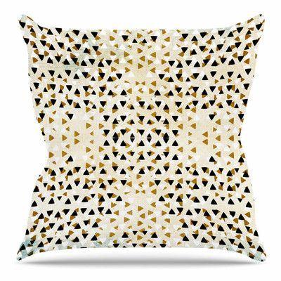 East Urban Home Diamond Sky by Pom Graphic Design Throw Pillow Size: