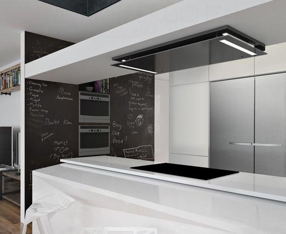 Ein moderner Dunstabzug für die Decke passt in quasi jede Küche - abgehängte decke küche