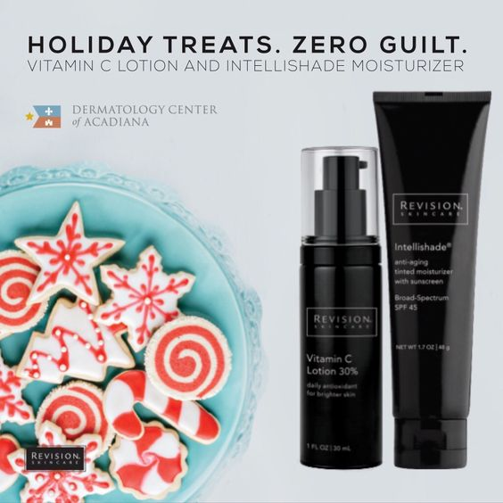 Treat yourself!  Indulge in some topical treats that will have your skin glowing from the inside and protected from the outside.  Get your antioxidant fix from Revision Skincare's Vitamin C Lotion and follow with their famous Intellishade anti-aging tinted moisturizer with SPF.  This skin care regimen will have you feeling and looking like a celeb!  Call (337) 235-6886 or come by the office to purchase.