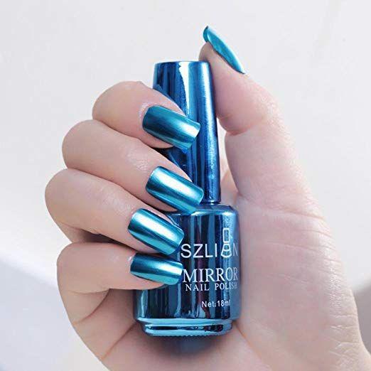 Amazon Com Enjocho Mirror Nail Polish 18ml Metallic Nail Polish