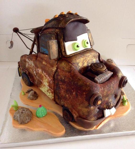 Cars Cake - Tow Mater