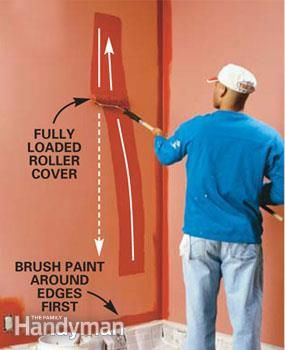 Paint Roller Techniques And Tips The Family Handyman