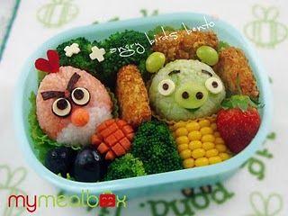 Angry Birds Bento! So cute!!!!