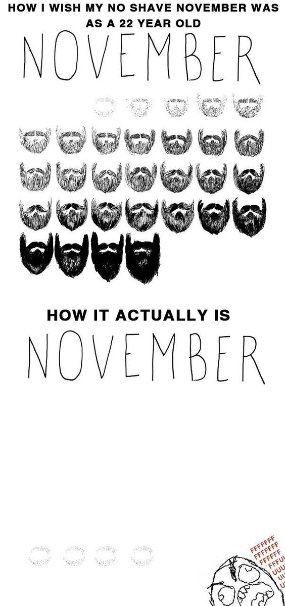 How I Wish My No Shave November Was Vs How It Actually Is