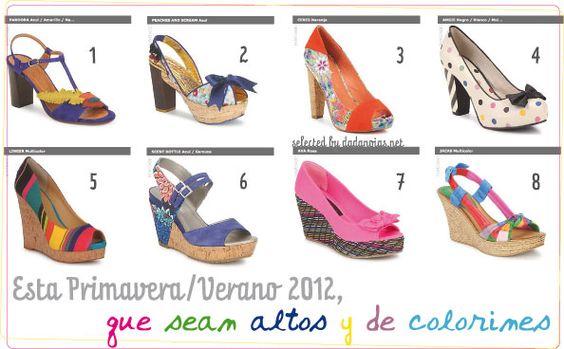 Zapatos de altura y multicolor, mi selección para esta primavera: http://www.dadanoias.net/2012/04/26/zapatos-2/