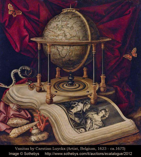 Vanitas - Carstian LUYCKX - Artista Belga. (1623/ cerca de1675.)