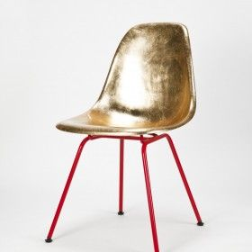Eames Side Chair Golden by Charles & Ray Eames/Reha Okay