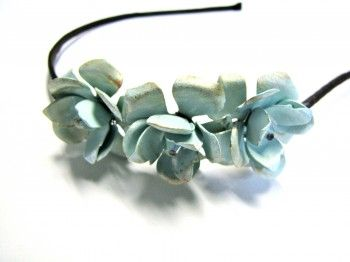 Handpainted floral headband  $42