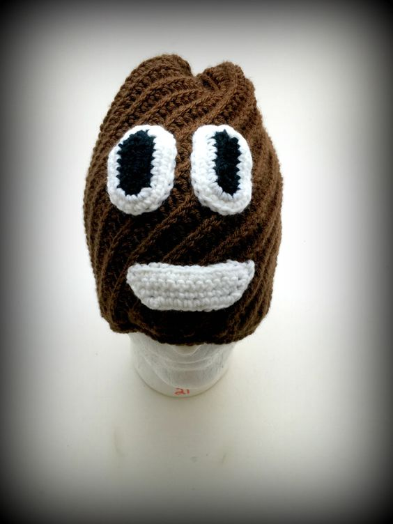 Extra Large Poop Emoji Hat/Crochet by OffthehookByMary on Etsy