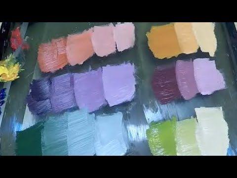 كيفية خلط الالوان للمبتدئين Youtube Painting