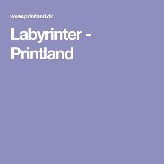 Labyrinter - Printland