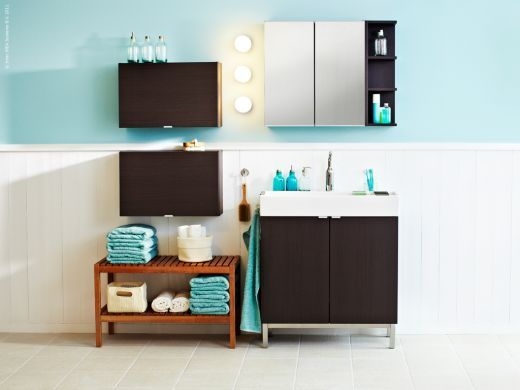 streamlined modern ikea bathroom.  home inspiration  Pinterest  Toilets, Vanities and Cabinets