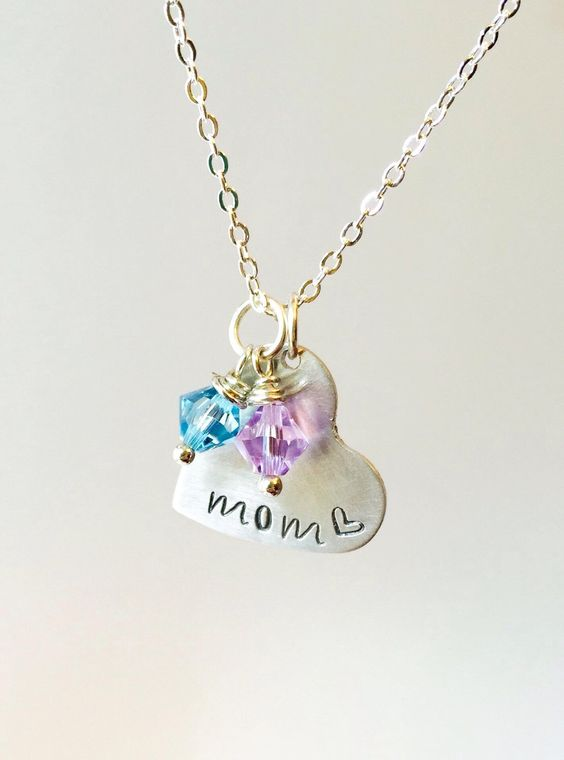 A personal favorite from my Etsy shop https://www.etsy.com/listing/227938988/mom-birthstone-necklace-mothers-necklace