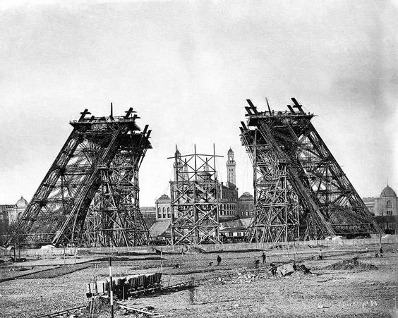 """1889.  Start of construction of the """"Eiffel Tower"""" in Paris, France."""