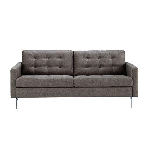 Sofá de 2/3 plazas de tela gris AN 187cm