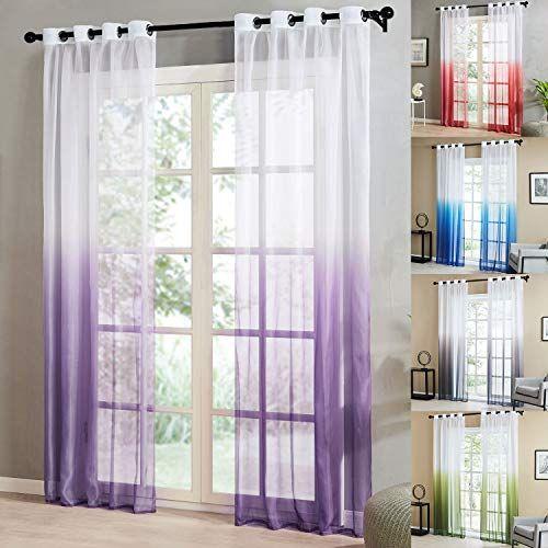 topfinel 2pcs rideaux voilage violet en