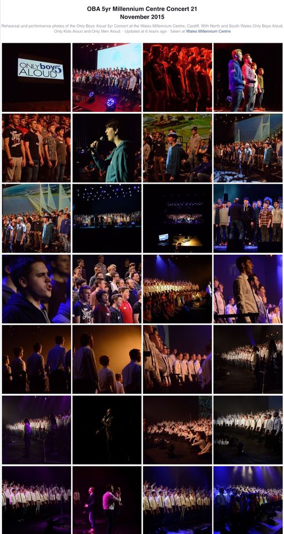 Only Boys Aloud @5 rehearsals & concert with OMA & OKA Cardiff Wales Milenium Centre (2015)
