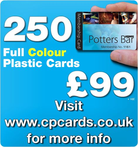 Plastic cards printed in full colour CMYK