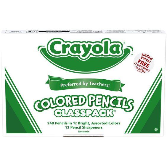 Crayola Waterproof Colored Pencil Classpack Assorted Colors Set